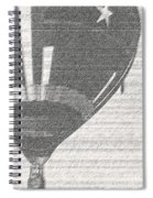 Texas Star Balloon Spiral Notebook