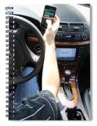 Texting And Driving Spiral Notebook