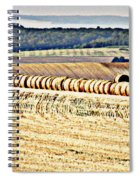 Textured Fields Of France Spiral Notebook