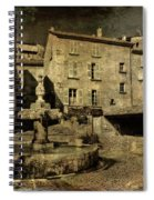 Textured Square With Fountain Spiral Notebook