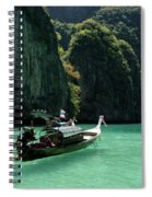 Thai Long Tail Boat  Spiral Notebook