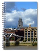 Thames River Panorama Spiral Notebook