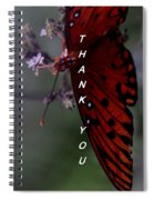 Thank You Card - Butterfly Spiral Notebook