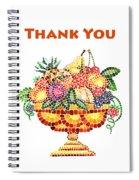 Thank You Card Fruit Vase Spiral Notebook