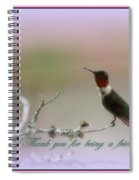 Thank You Cards Spiral Notebook