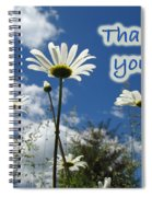 Thank You Greeting Card - Oxeye Daisy Wildflowers Spiral Notebook