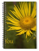 Thank You Yellow Aster Spiral Notebook