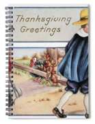 Thanksgiving, C1900 Spiral Notebook