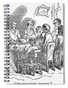 Thanksgiving Dinner, 1850 Spiral Notebook