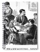 Thanksgiving Dinner, 1873 Spiral Notebook