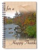Thanksgiving Greeting Card - Autumn Creek Spiral Notebook