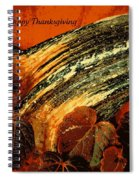 Thanksgiving Greeting Card Spiral Notebook