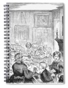 Thanskgiving Dinner, 1857 Spiral Notebook