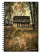 Thatched Roof Cottage In The Woods Spiral Notebook