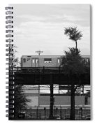 The 7 Line In Black And White Spiral Notebook