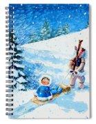 The Aerial Skier - 1 Spiral Notebook