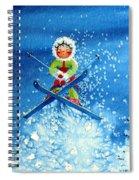 The Aerial Skier - 11 Spiral Notebook