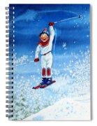 The Aerial Skier 15 Spiral Notebook