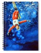The Aerial Skier 20 Spiral Notebook