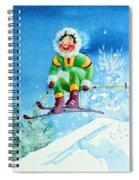 The Aerial Skier - 9 Spiral Notebook