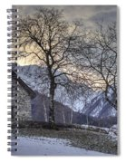 The Alps In Winter Spiral Notebook