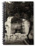 The Altar 2 Bw Spiral Notebook