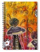 The Angel Brigade - Cropped Version Spiral Notebook