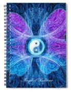 The Angel Of Balance Spiral Notebook