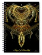 The Angel Of Friendship Spiral Notebook