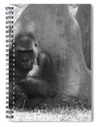 The Angry Ape In Black And White Spiral Notebook