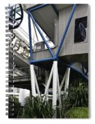 The Area Below The Capsules Of The Singapore Flyer Spiral Notebook
