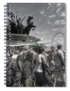 The Attack Of The Zombie Tourists Spiral Notebook