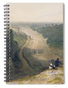 The Avon Gorge - Looking Over Clifton Spiral Notebook