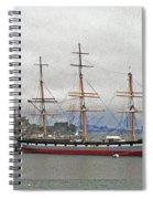 The Balclutha Ship And Alcatraz Island Spiral Notebook