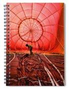 The Balloonist - Inside A Hot Air Balloon Spiral Notebook
