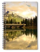 The Banff Bridge Reflected Spiral Notebook