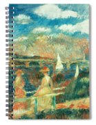 The Banks Of The Seine At Argenteuil Spiral Notebook