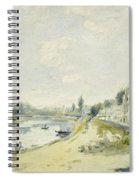 The Banks Of The Seine At Bougival Spiral Notebook