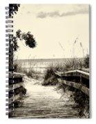 The Beach Path - Clearwater Beach Spiral Notebook