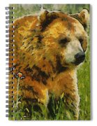 The Bear Painterly Spiral Notebook