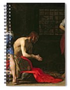 The Beheading Of John The Baptist Spiral Notebook