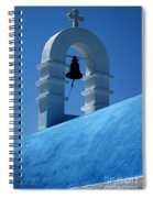 The Bell Tower In Mykonos Spiral Notebook