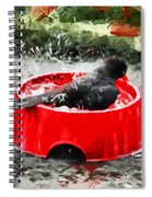 The Birdbath  Spiral Notebook