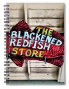 The Blackened Redfish Store Spiral Notebook