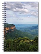 The Blue Mountains - Panoramic View Spiral Notebook