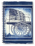 The Bombs Bursting In Air Blue Spiral Notebook