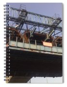 The Bridge Building Platform Being Used In The Construction Of The Delhi Metro Spiral Notebook