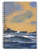 The British Cruisers Hms Exeter And Hms York  Spiral Notebook