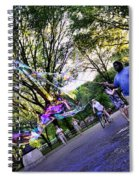 The Bubble Man Of Central Park Spiral Notebook