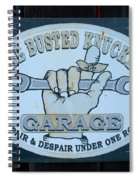 The Busted Knuckle Spiral Notebook